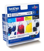 Brother LC980 Value Multipack (DCP-165C-MFC-295CW- MFC-290C - DCP-265CN - DCP-375CW)