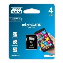 GOODRAM 4GB MICRO CARD class 4 +adapter