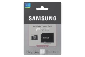 Samsung MicroSD card Pro series with Adapter