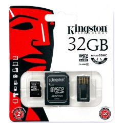 Kingston  32GB Multi Kit (Class 10 microSD + SD adapter + USB reader) Android