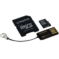 Kingston  64GB Multi Kit (Class 10 microSD + SD adapter + USB reader) Android