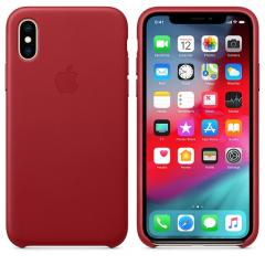Apple iPhone XS Leather Case - (PRODUCT) RED