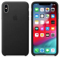 Apple iPhone XS Max Leather Case - Black
