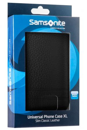 Samsonite SLIM CLASSIC LEATHER-CLASSIC SLEEVE XL black