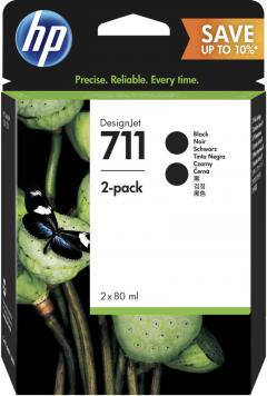 Консуматив HP 711 2 - Pack Original Ink Cartridge; Black;  ; Designjet T120 24 ePrinter