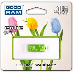 GOODRAM USB Cube 4 GB green
