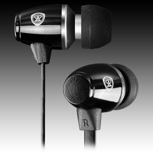Stereo earphones with microphone; Crystal clear sound delivers dynamic bass; Noise-isolating ear-bud