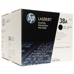 HP 38A Black Dual Pack LaserJet Toner Cartridges