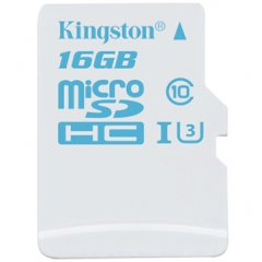 Kingston  16GB microSDHC UHS-I U3 Action Card/ 90R/45W + SD Adapter