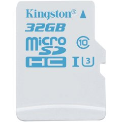 Kingston  32GB microSDHC UHS-I U3 Action Card/ 90R/45W + SD Adapter