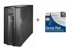 APC Smart-UPS 3000VA LCD 230V + APC Service Pack 3 Year Warranty Extension (for new product