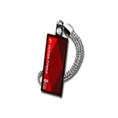 SILICON POWER 8GB USB 2.0 Touch 810 Red