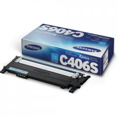 Консуматив Samsung CLT-C406S Cyan Toner Cartridge (up to 1 000 A4 Pages at 5% coverage)*