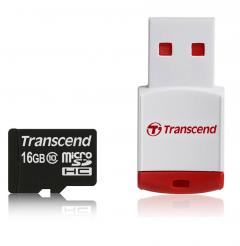 Transcend 16GB micro SDHC (with reader - Class 10)