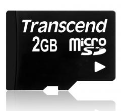 Transcend 2GB microSD (No box & adapter)
