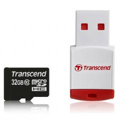 Transcend 32GB microSDHC (with reader - Class 10)
