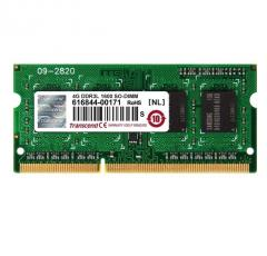 Transcend 4GB 204pin SO-DIMM DDR3L 1600 1Rx8 512Mx8 CL11 1.35V