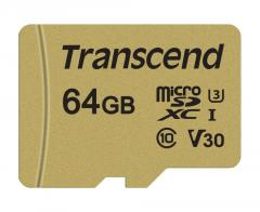 Transcend 64GB microSD UHS-I U3 (with adapter)
