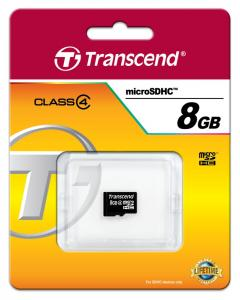 Transcend 8GB microSDHC (No Box & Adapter