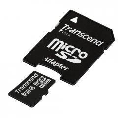 Transcend 8GB microSDHC (with adapter