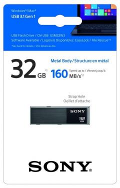 Sony 32GB USB 3.0 Ultra Mini Black