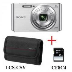 Sony Cyber Shot DSC-W830 silver + case + 8GB card