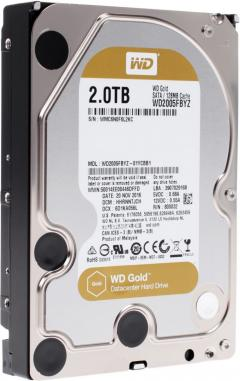 HDD 2TB SATAIII WD Gold 7200rpm 128MB for servers (5 years warranty)