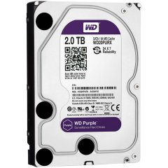 HDD 2TB SATAIII WD Purple 64MB for DVR/Surveillance (3 years warranty)