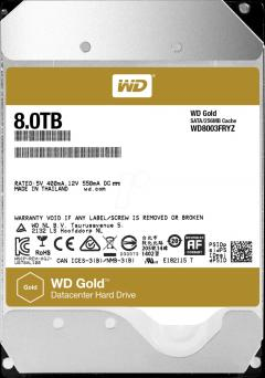 HDD 8TB SATAIII WD Gold 7200rpm 256MB for servers (5 years warranty)