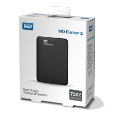 HDD 750GB USB 3.0 Elements Portable Black