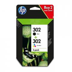 Консуматив HP 302 Combo 2-Pack Original Ink Cartridge; Black/Tri-color;  Page Yield